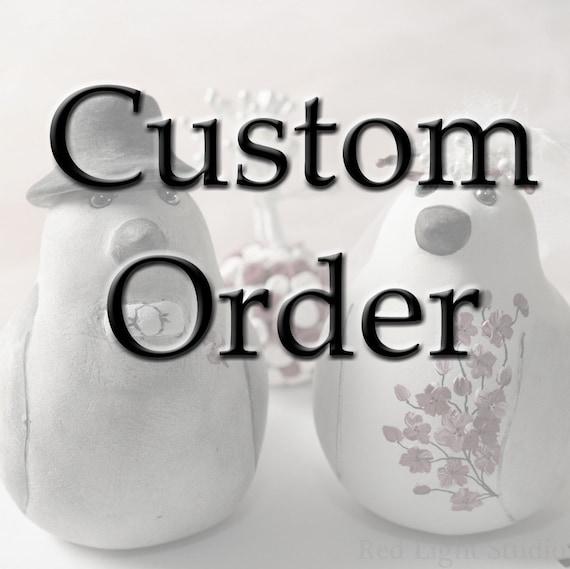 Custom Order Wedding Cake Topper -- For  andrea9027