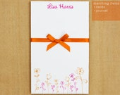 Personalized Stationary Notepad -  Wild Flowers