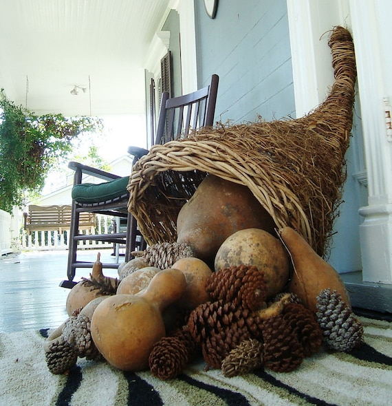 RESERVED for Margot GIANT Cornucopia, Market Sized, Rustic, Handmade, Wicker, Grapevine, Thanksgiving or Wedding Decor