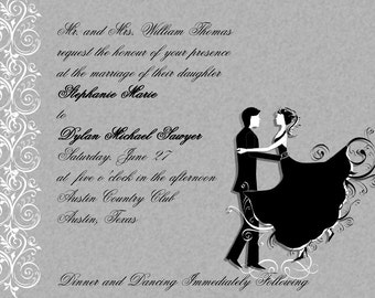 Silhouette Dancers Wedding Invitations