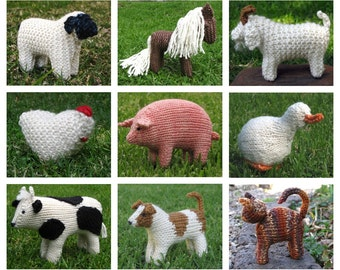 Knitting Patterns Animals Beginners : Image Gallery knitted animal patterns
