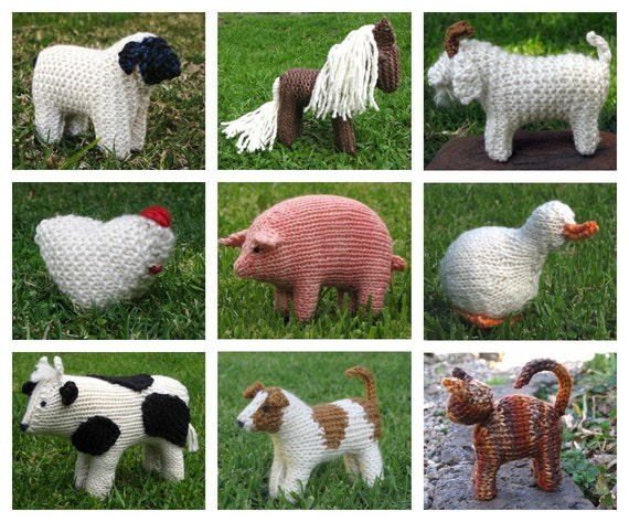 Today's Special Buy Any 5 Mamma4earth Animal Knitting Patterns for 15 Dollars instead of 20 Dollars, (PDF)