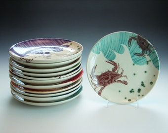 Pottery Wave Salad Plate / Wedding Registry for Cory and Taylor