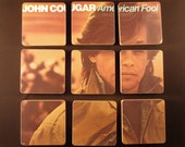JOHN COUGAR recycled American Fool album cover coasters & record bowl