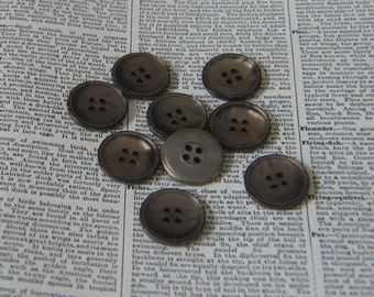 Vintage Taupe Plastic Sew Thru Buttons