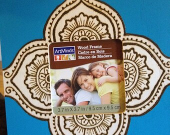Multicolored Henna Wood Picture frame