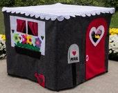 Kids Playhouse, Stone Cottage, Custom Order, Card Table Playhouse