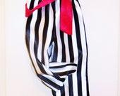 pirate pants, full length, red sash, sz 2-7