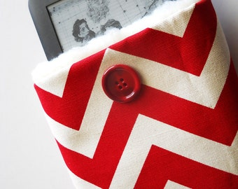 SALE, Kindle2 or Nook or others, custom made,Red Chevron plus several colors.