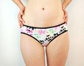 Hand painted white splatter paint panties lingerie