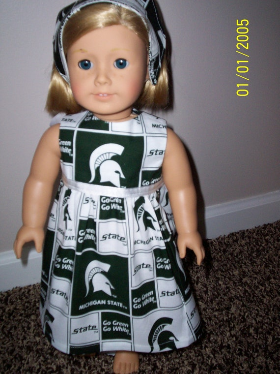 MICHIGAN STATE American Girl Doll or 18-inch Doll Dress Set