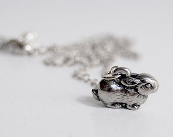 Teeny Tiny Bunny Necklace