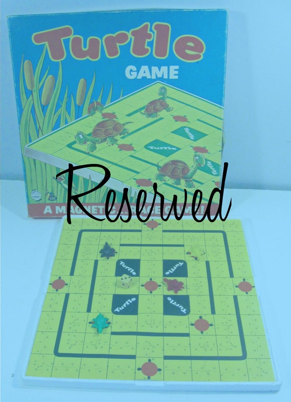 vintage board game - Turtles - magnetic race game - RESERVED