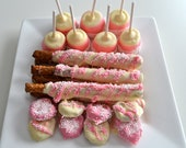 Pink Princess Girls Party Treats For 24 Guests - NicolesTreats