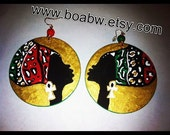 On & On Headwrap RBG Earrings