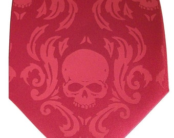 RokGear Skull Damask necktie Print to order in colors of your choice