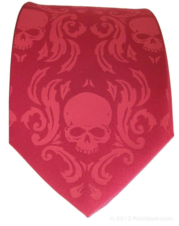 Damask mens necktie custom colors available