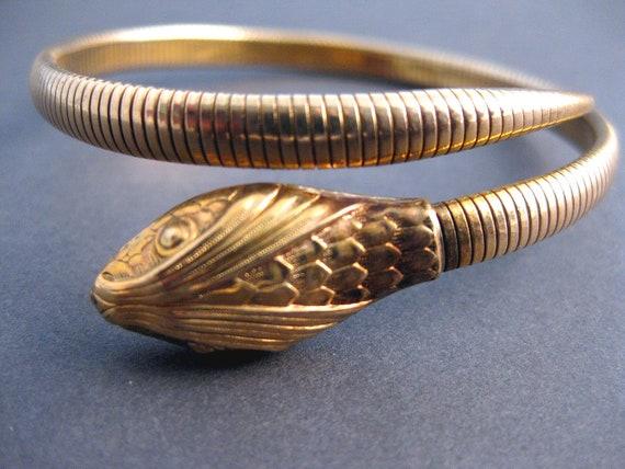 Vintage 1940's Gold Filled Forstner Snake Wrap Bracelet