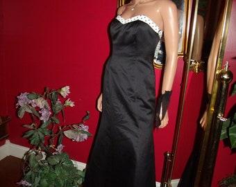 Vintage Black Dress Flapper  does Evening Tea Party    Wedding Size 3