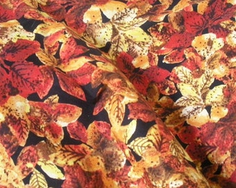 Forest Edge Fall Leaves Fabric-- TWO yards