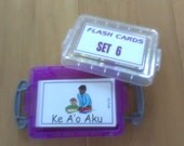 FLASH CARDS (SET 6) - 'Olelo Hawai'i / English -  80 cards plus storage box