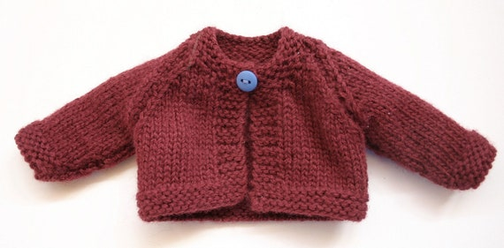 Knitted Doll Cardigan in Two Sizes