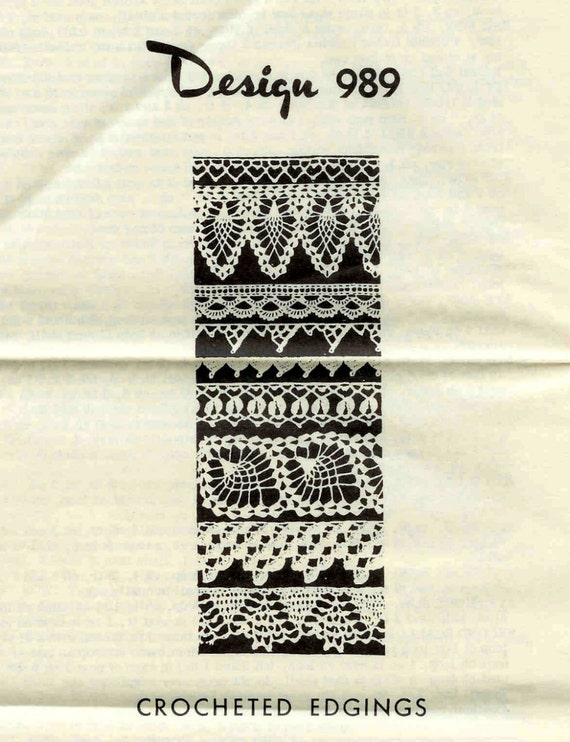 Mail Order Pattern for Crochet Edgings-9 Beautiful Edgings