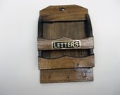 Letter holder with key hooks