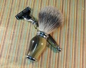 Faux Horn Shaving Set