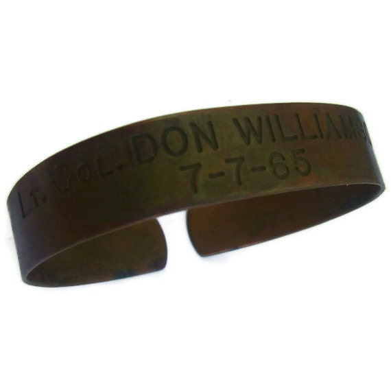 Bracelets on Vintage Pow Mia Bracelet Lt Col Don Williamson By Ichliebevintage