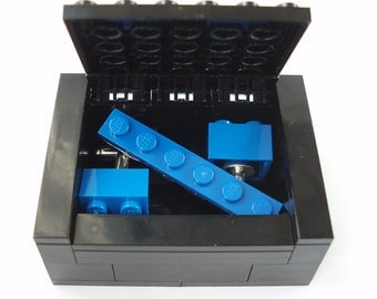 Groomsmen Cufflinks & Tie Slide Gift Set Includes Box - Handmade with LEGO(r) Bricks , Wedding Cufflinks, Grooms Cufflinks
