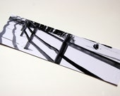 SALE - Black and White Fence in Snow Photo Bookmark