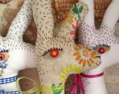 Baby Bean the Hand Embroidered Fabric Hare: A Stitch in Time