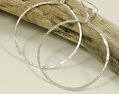 Silver Hoop Earrings  - X Large Gifts for Her