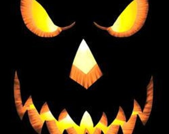 Free Shipping Mens or Womens Tee Shirt with Scary Pumpkin Face Sizes Small through 3XL Great Halloween Costume Plus Sizes Too