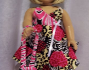 Hankerchief dress with matching pocketbook