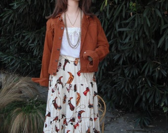 Vintage SHELBI RANCH Cowgirl  Skirt // One Size Skirt // Ranch Wear