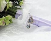 Western Wedding Bouquet Charm, Crystal Western Charm, Brides Charm, Cowboy Boot