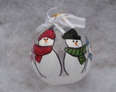 Family of 4 - Personalized Hand Painted Ornament - Custom Made