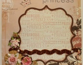 PRINCESS Single premade scrapbook page shabby style vintage inspired by Tammie