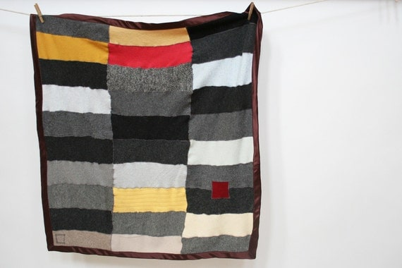 Recycled Wool and Cashmere Crib/Lap/Stroller Blanket