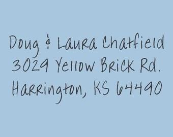 Custom Address Self Inking Stamp Chatfield Design 200-025