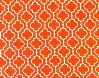 Fat Quarter - Metro Living Geometric Print in Orange by Robert Kaufman Fabrics EIP-11018-8 Orange