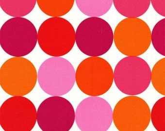 Fat Quarter - Disco Dot Orange Pink Michael Miller C910-Flamingo