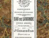 Antique Vintage French Apothecary Perfume Label 8