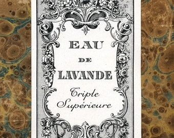 Antique Vintage French Apothecary Perfume Label 4