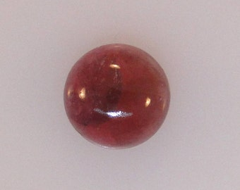 Pink Tourmaline, Rubellite, round cabochon, great color, 9mm, 3.16 carats                   085-17-020