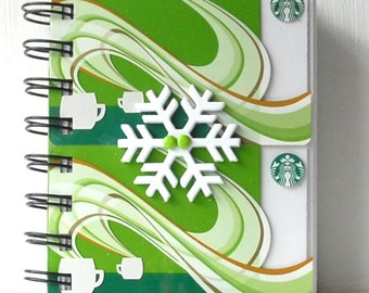 STARBUCKS HOLIDAY CHRISTMAS Large Notebook with gift card covers front and back