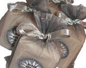 Black Pepper Handmade Cold Process Soap Bar, 4oz - men, man, masculine,unisex, silver,vegan,natural,organic sustainable palm oil,organza bag