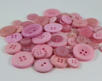 50 Light Pink Buttons-Buy 3, Get 1 FREE
